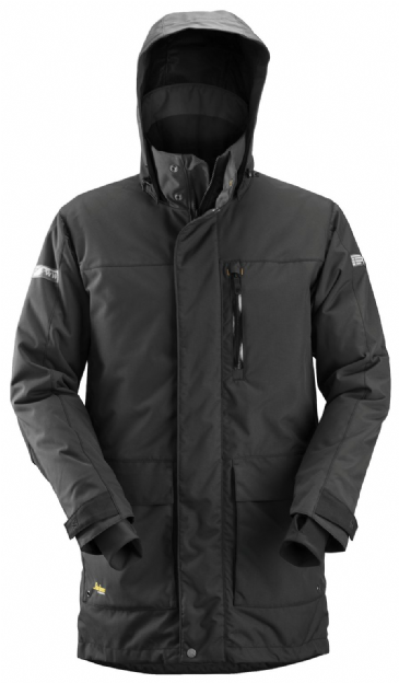Snickers 1800 AllroundWork Waterproof 37.5® Insulated Parka (Black/Black)